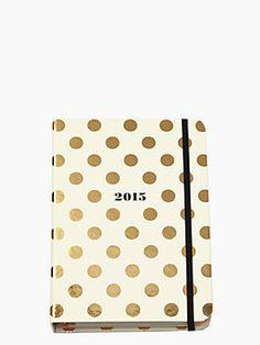 Medium Gold Dot agenda, light pink inside $30
