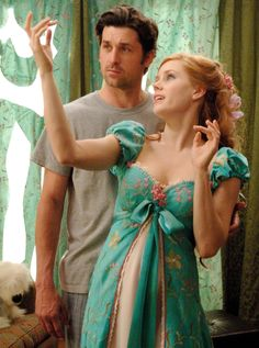 """Patrick Dempsey as Robert Philip & Amy Adams as Giselle - Enchanted """"You made a dress out of my curtains? Enchanted Movie, Giselle Enchanted, Disney Enchanted, Amy Adams Enchanted, Enchanted Prince, Patrick Dempsey, Film Disney, Disney Pixar, Disney Characters"""