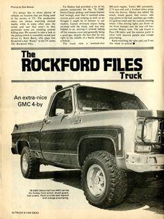 """Rocky"" Rockford's Truck - always loved this truck. Chevy Pickup Trucks, Classic Chevy Trucks, Gm Trucks, Chevrolet Trucks, Cool Trucks, Chevy Stepside, Chevy Pickups, The Rockford Files, Model Truck Kits"