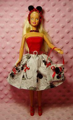 Barbie Clothes  Mickey & Minnie Dress Purse
