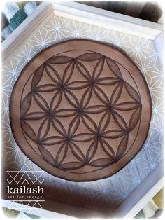 Leather Crystal Grid_Seed of Life_Sacred Geometry