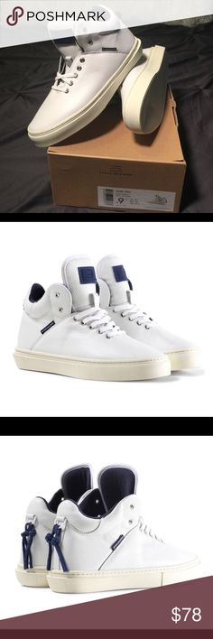 0785ed4c Men's One - Ten Mid Top Clear Weather Sneaker. HIGH-TOP WHITE FULL-