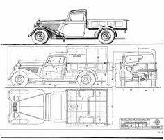 Afbeeldingsresultaat voor classic car blueprints for 3d modeling