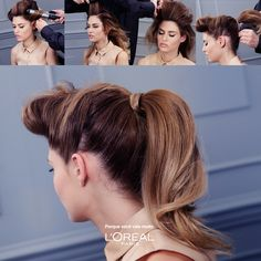 Tutorial Bouffant Ponytail #beauty #hair #cabelo #penteado #diy #tutorial #babyliss #beleza #loreal