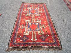 Persian Rug 1960s Vintage, Hand-Knotted, Kurdish Rug (3003) by carpetshopprincess on Etsy
