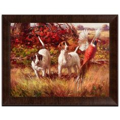 Dogs with Pheasant Framed Print | American Signature Furniture