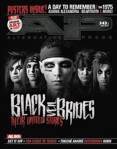 This issue is all about BLACK VEIL BRIDES. We spoke to every member about their personal stories in making the record, as well as their opinions on previous BVB albums, who's really the biggest rockst
