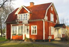 Byggnadsinventering | Waggeryds Museiförening Red Cottage, Dutch Colonial, This Old House, Gambrel, Swedish House, Sims House, Scandinavian Home, Old Houses, Curb Appeal