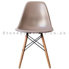 Charles Ray Eames Style DSW Side Chair Natural legs- Slate