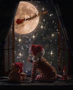 Beautiful Christmas Scenes, Winter Christmas Scenes, Christmas Scenery, Christmas Feeling, Christmas Background, Christmas Night, Xmas, Christmas Animated Gif, Merry Christmas Gif