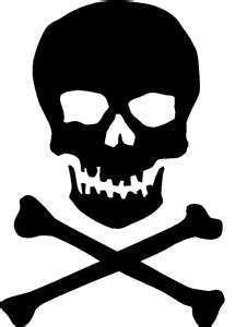 Skull and Cross Bones Vinyl Cutout Window Sticker Skull Stencil, Stencil Art, Skull Art, Stenciling, Free Stencils, Stencil Templates, Halloween Silhouettes, Jolly Roger, Nose Art