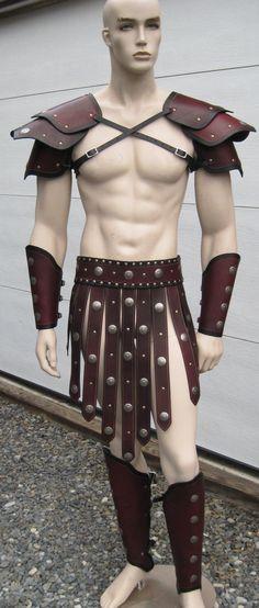 Gladiator Leather Armor Set larp cosplay by SharpMountainLeather