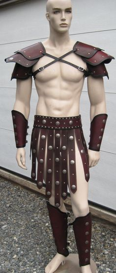 Gladiator Leather Armor Set larp cosplay by SharpMountainLeather