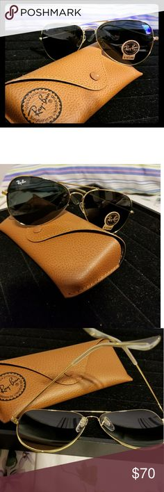 Ray-bans Avatiors New Rayban new Aviators !!!! Black and gold..Comes with original case Ray-Ban Accessories Sunglasses