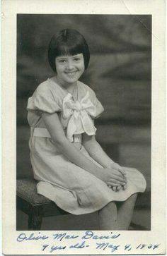Olive Mae Davis at age 9