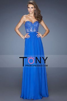 2015 Fast Delivery Prom Dresses A Line Sweetheart Floor Length Chiffon With Applique $ 79.99 TPP7JQ9G98 - TonyPromDresses.com