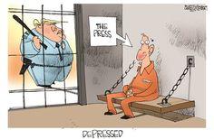 Protect #FreedomOfThePress Political Cartoons by Jerry Holbert #weightlossbinauralbeats,