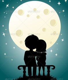 Buy Couple under the moonlight by spaxiax on GraphicRiver. couple under the moonlight Romantic Photos, Romantic Couples, Cute Couples, Love Cartoon Couple, Cute Couple Art, Beautiful Couple, Couple Silhouette, Cartoons Love, Love Wallpaper