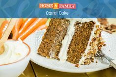 Carrot Cake -  This recipe comes from the cake master himself, Duff Goldman! Classic carrot cake recipe that's unbelievably moist! Tune in to Home and Family weekdays at 10/9c on Hallmark Channel!