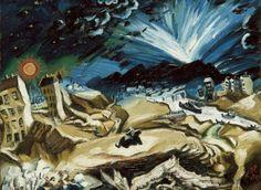 Apocalyptic Landscape by Ludwig Meindner, from Weimar: Art of the First World War Lucky Luke, Max Ernst, World War One, First World, Jakob Van Hoddis, Ludwig Meidner, Ww1 Art, Degenerate Art, Jewish Museum