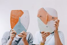 Ceramic masks by Uinverso