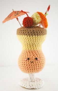 PDF Pattern- 8 Amigurumi Crochet Cocktails.