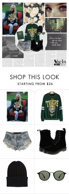 """""""Here in the forest,dark and deep,I offer you eternal sleep..."""" by evakixar ❤ liked on Polyvore featuring One Teaspoon, Dr. Martens, The Elder Statesman and Ray-Ban"""