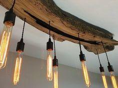 Reclaimed Wood Beam Light Fixture