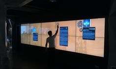 10 Screen Video Wall with Touch Overlay application at Gaudi 4D Experience, Barcelona
