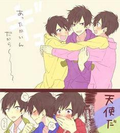 Awww so cute「♡」 Otaku Anime, Manga Anime, Anime Art, Vocaloid, Osomatsu San Doujinshi, Furry Comic, Hot Anime Boy, Anime Boys, Ichimatsu