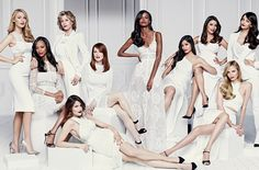 Look at all these gorgeous women! Blake Lively, Zoe Saldana, Eva Longoria, Freida Pinto, and the list goes on. L'Oreal did a great job ha. Group Photography Poses, Group Photo Poses, Fashion Photography, Blake Lively, Christy Turlington, Freida Pinto, Liya Kebede, Doutzen Kroes, Zoe Saldana