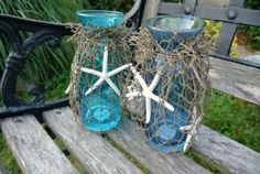 I can make this for less! Beach Wedding Table Decor Hen Party  Decor  Rustic by JCBees, $95.00