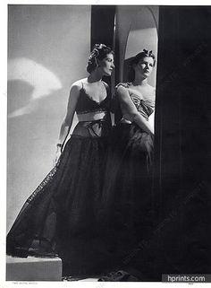 Lucien Lelong 1937 Evening Gown, Photo Horst