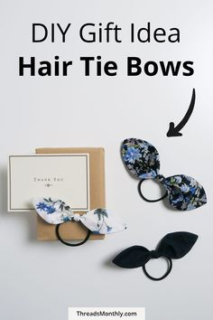 With just basic sewing tools and skills, you can make these cute hair tie bows as gifts. They're quick and easy to make. Great for using up fabric scraps. Make them for children's birthdays, mothers day, and as christmas stocking stuffers. Craft Projects For Adults, Diy Projects For Beginners, Sewing For Beginners, Basic Sewing, Sewing Basics, Free Sewing, Scrap Fabric Projects, Fabric Scraps, Sewing Patterns For Kids