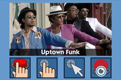 Uptown Funk - free teaching activity for switch, touchscreen, pointing device and eye gaze users. Use online or download for Windows PC.