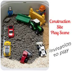 Frog in a pocket: Small world construction site - invitation to play
