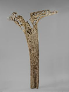 House Post, 19th century; Wood; The Michael C. Rockefeller Memorial Collection, Purchase, Nelson A. Rockefeller Gift, 1965 (1978.412.842a) Gallery 354