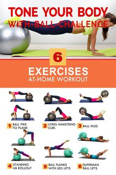 Fitness Workouts, 7 Workout, Fitness Workout For Women, At Home Workout Plan, Workout Guide, Yoga Fitness, At Home Workouts, Yoga Ball Workouts, Fitness Exercises At Home