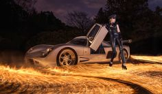 Photograph An Ultima GTR on fire by Benjamin Von Wong on Benjamin Von Wong, Epic Story, Fire Art, Surrealism Photography, Photography And Videography, Photography Ideas, Sport Cars, Installation Art, One Pic