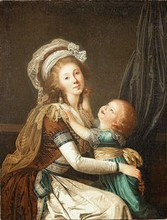Portrait of a Lady with her Son (ca. 1792), attributed to Adolf Ulrik Wertmüller.