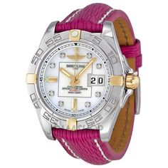 Breitling Galactic 41 Automatic Diamond Mother of Pearl Ladies Watch B49350L2-A704PKSLT $3,997