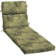 Garden Treasures�73-in L x 23-in W North Palm Leaf Patio Chaise Lounge Cushion