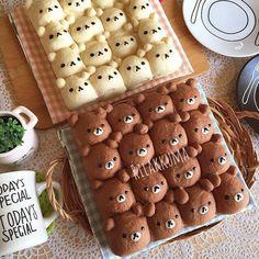 おいしい・簡単・かわいすぎ♡アレンジちぎりパンが大ブーム中!! | ギャザリー Japanese Sweets, Japanese Bread, Japanese Cake, Japanese Food Art, Kawaii Cooking, Bread Shaping, Bread Art, Cute Baking, Cute Buns