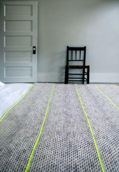 Granny stripe blanket // crochet