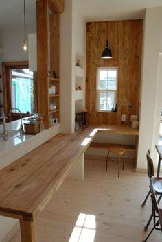 Good for kitchen design ❤ Kitchen Interior, Room Interior, Interior Design Living Room, Kitchen Design, Japanese Interior, Japanese House, Home And Deco, House Layouts, Fashion Room