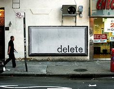 "Ji Lee: ""Delete Billboard"" - Josh Spear, Trendspotting"