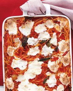 Baked Spaghetti and Mozzarella Recipe on Yummly