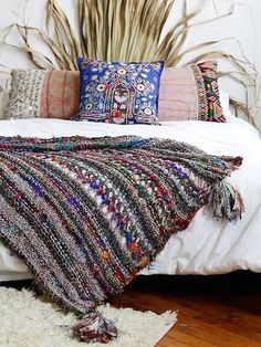 Slip into slumber with this Coco Banana Blanket from Free People, styled with cool boho delights.