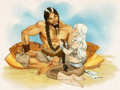 Daenerys khal drogo my sun and stars by gali - :facepalm: Daenerys And Khal Drogo, Daenerys Targaryen Art, Man In Love, I Fall In Love, My Sun And Stars, Historical Art, Mother Of Dragons, Recent Events, Game Of Thrones