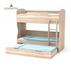 Κρεβάτι Κουκέτα Hostel 203x93.2x185 με επιπλέον 1 συρτάρι κρεβάτι 203x93.5x28.5. Φυσικός Δρυς. Εξαιρετική ποιότητα, στιβαρή κατασκευή, με σκάλα και βάση (τάβλες) στρωμάτων. Δέχεται δύο στρώματα 90x200 και ενα 90x190 (Τα στρώματα δεν περιλαμβάνονται)Από την Alphab2b.gr Hostel, Bunk Beds, Kids Room, Furniture, Home Decor, Room Ideas, Products, Room Kids, Decoration Home